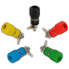 Binding Post Speaker Test Plug Socket Connectors - Black Red Green Blue Yellow