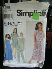 Simplicity 8589 Maternity Dress, Top, Jumper, Pants & Shorts Pattern-Sizes 12-16