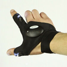 New Survival Camping Hiking Rescue Tool Glove LED Flashlight Torch Lamp Black