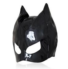 Bondage Fetish Dungeon PVC Wet Look Cat Ear Half Head Hood Mask Blindfold