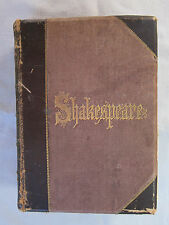 Old Book Complete Works of William Shakespeare 1876 Many Engravings