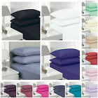 100% Egyption Cotton 23CM, EXTRA DEEP FITTED 40CM, FLAT LUXURY PERCALE SHEETS!