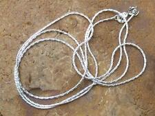"925 SILVER 1MM CABLE CHAIN/NECKLACE 20"" INCHES HANDCRAFTED JEWELLERY"