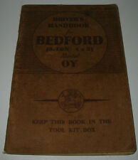 Driver´s Handbook Ford Bedford 3 Ton 4 x 2 Model OY September 1942!