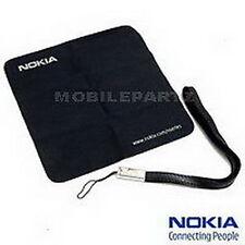 Original Nokia Negro Correa De Transporte Y Paño Limpiador de lente para teléfonos móviles Nokia