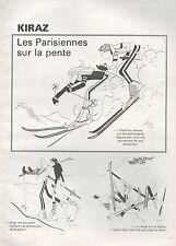 ▬► Dessin Humoristique KIRAZ Les Parisiennes sur la pente... 1980