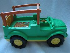 New! Fisher Price Little People ANIMAL SOUNDS SAFARI TRUCK Zoo Farm Vehicle Jeep