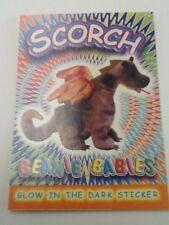TY Beanie Babies Glow in the Dark Sticker Coloring Card SCORCH College Fund Help