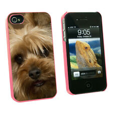 Yorkshire Terrier Yorkie Dog - Snap On Hard Case for Apple iPhone 4 4S - Pink