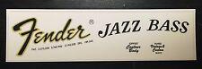 Anni'70 Stile (Early) Fender Jazz Bass PALETTA SCIVOLO AD ACQUA DECALCOMANIA