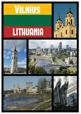 VILNIUS, LITHUANIA - SOUVENIR NOVELTY SIGHTS FRIDGE MAGNET - NEW - LITTLE GIFTS