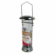 Kingfisher Deluxe Bird Metal Nut Feeder Wire Mesh Garden Attract Wild Birds