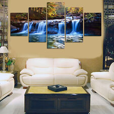 5pcs/Set Unframed Waterfall Wall Art Pictures for Living Room Home Decor Luxury