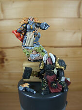 2 SCIBOR SPACE MARINE KNIGHT MODELS PAINTED (1032)