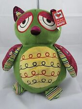 """GANZ Multi-Color Owl Plush 14""""Height - NEW"""