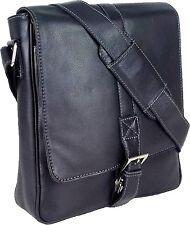 UNICORN Bolsa de cuero genuino - iPad, Tablet accesorios Bolsa - Negro #4J