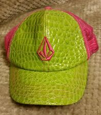 RARE VOLCOM STONE SNAPBACK TRUCKER ADJUSTABLE HAT TORTOISE SHELL CAP ONE SIZE