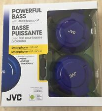 JVC Headphones HA-SR185-A Powerful Bass w/ Deep bass port - Blue NIP NIB