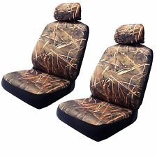 Muddy Water Camo Front Bucket Low Back Pair Seat Covers Camouflage For RAM