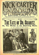dime novel; NICK CARTER LIBRARY #15: The Fate of Dr. Quartz; or, The Murder In t