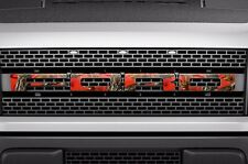 Ford Raptor F150 SVT Grille Insert Graphic Vinyl Sticker Grill Decal - FIRE CAMO