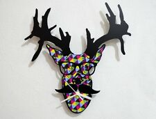 Hipster Deer - Wall Clock