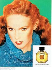 PUBLICITE ADVERTISING 115  1978  CHERAMY II  parfum  ESPACES par J.C BRIALY