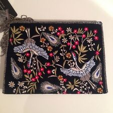 ZARA EMBROIDERED BEADED VELVET CLUTCH BAG SPECIAL EDITION