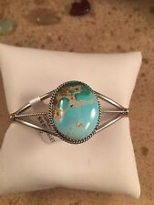 Navajo Royston Turquoise & Sterling Silver Cuff Bracelet  By Phillip Yazzie