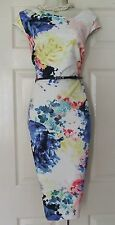 COAST ALBA PRINT MILLI SHIFT FLORAL PARTY EVENING DRESS SIZE 16 BNWT £95