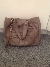 LADIES 'RUBY' GREY LARGE BAG. GOOD CONDITION. TWO CARRYING HANDLES. ZIP POCKETS
