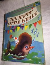 """The Happy Little Whale 1960 Little Golden book  """"A"""" edition"""