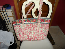 Vera Bradley Miller Bag in retired pink pattern