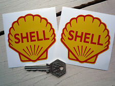SHELL RACING CAR MOTORCYCLE 3 inch STICKERS Maserati