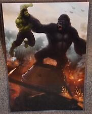 King Kong vs The Incredible Hulk Glossy Print 11 x 17 In Hard Plastic Sleeve