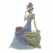 Juliana Art Deco Vintage Rose Lilac Dress Lady Figurine / Ornament.New.58441