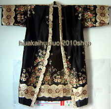 Hot Sale Fashion Lady's Kimono Kaftan Robe Gown Sleepwear With Belt Flower