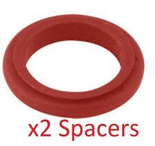 2 Red 17mm x 20mm Alufelgen Spurverbreiterungen Prokart Kadett UK KART STORE