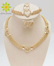 Necklace Bracelet Earrings Ring Woman Wedding Bridal Gold Plated Jewelry Sets
