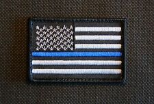 Thin Blue Line United States Flag Patch Police SWAT Velcro