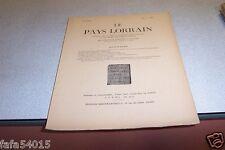 LE PAYS LORRAIN 1953 N° 4 CHRISTIAN PFISTER VAUBAN