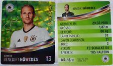 REWE Fussball EM 2016 EURO Sammelkarte - GLITZER Nr. 13 Benedikt HÖWEDES