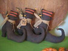 PATTERN~PRIMITIVE HALLOWEEN SALEM WITCH SHOES BOWL FILLERS CUPBOARD TUCK