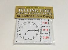 TELLING TIME - Cards for Learning Center 52 Cards- Letters Teaching  Pre-k