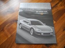 2001 01 CHRYSLER SEBRING COUPE BROCHURE LX LXi