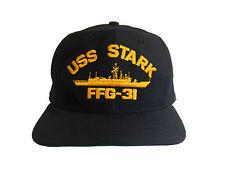 USS STARK Hat Cap FFG-31 US NAVY Dark Blue MEDIUM / LARGE New Era Made in USA