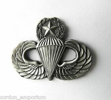 US ARMY PARA MASTER JUMP WINGS LAPEL PIN BADGE 1.5 INCHES