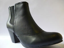 Lotus Womens Dickens Ankle Boots Black Size 6 New £21.99