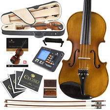 NEW FULL SIZE 4/4 EBONY SOLID WOOD VIOLINBOOK