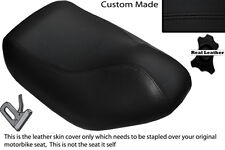 BLACK STITCH CUSTOM FITS HYOSUNG SF 50 FRONT LEATHER SEAT COVER